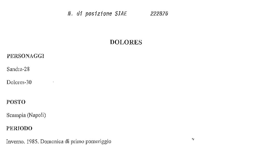 DOLORES - versione italiana ufficiale/Italian official version